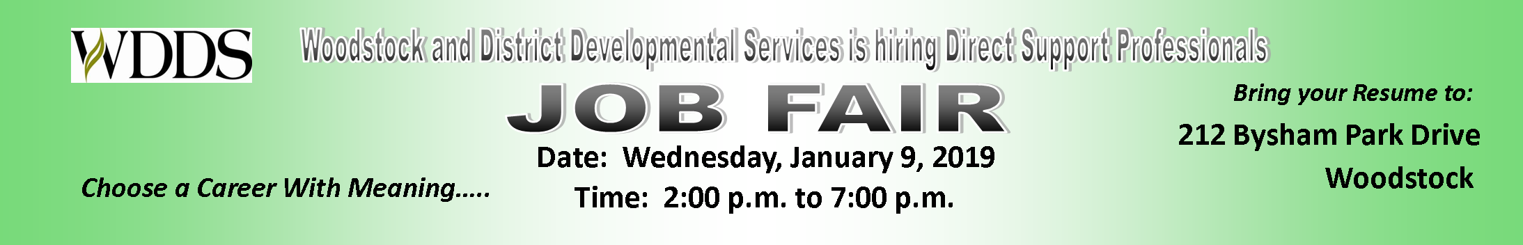 WDDS Job Fair January 9, 2019