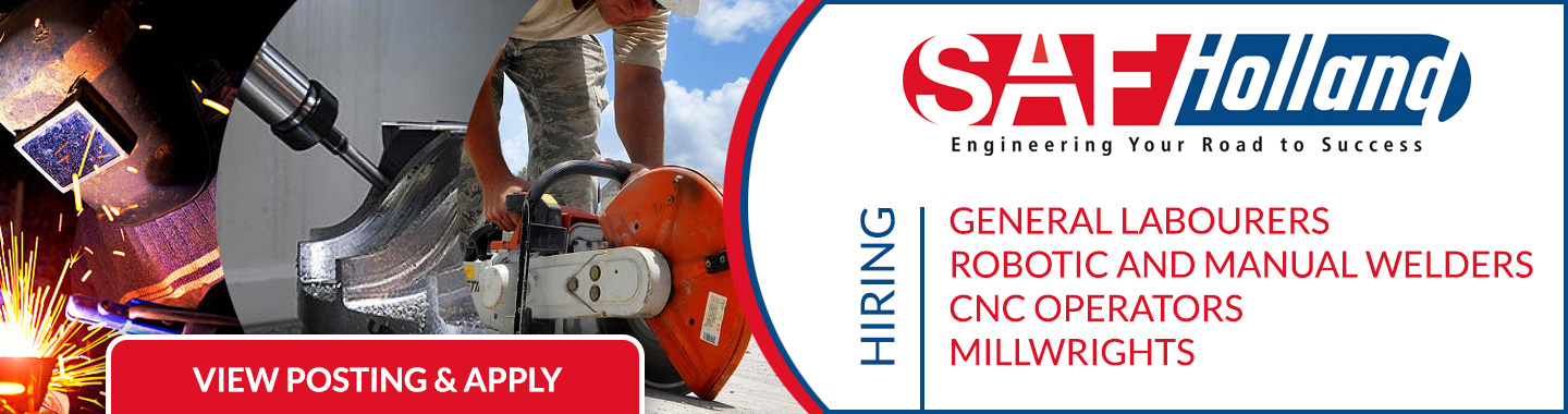 SAF Holland Multiple Positions Available
